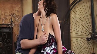 Sienna West cheating housewife hard cock between huge tits f
