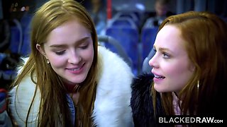 Magic Bus In Budapest Makes Hotties Lick Dick! With Ella Hughes And Jia Lissa