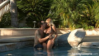 blonde seduction kylie gets drilled by the pool boy