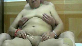 Chinese Grandpa And Granny