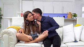 Young And Thin Babe Spread On The Cheating Fiance Of His Sister