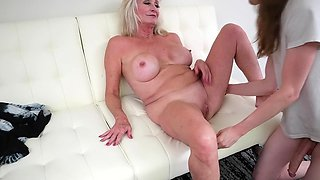 Matura babe enjoys getting fucked by her younger neighbor. HD