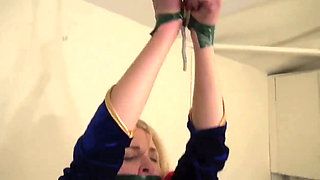 Superheroine Supergirl Bound and Abused by Demon