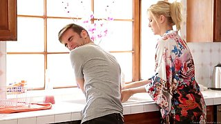 NastyPlace.org - Blonde mom Julia and young guy