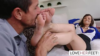Foot Fetishist Hubby has a Chubby for Counselor