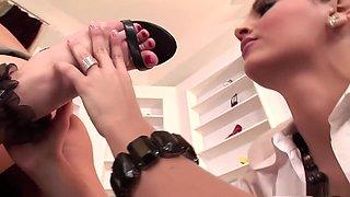 Best pornstars Natasha Nice and Eve Angel in incredible brazilian, blowjob porn scene