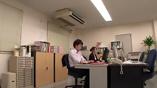 Best Japanese whore Yuko Shiraki, Yuuko Shiraki in Exotic Secretary, Stockings/Pansuto JAV movie