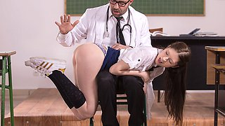 Student Nurse Rebecca Volpetti Is Punished With Hard Anal - Private