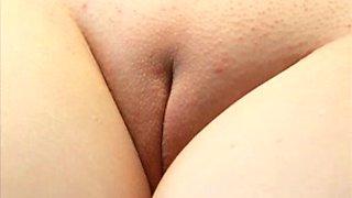 My plump girlfriend loves when I fuck her oiled up slit