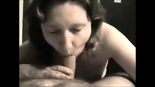 Hot brunette housewife delivers a sensual blowjob in POV