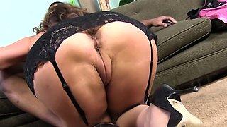 Busty Cougar Rebecca Bardoux Loves BBC Anal