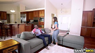 Riding massive black cock is fun for whore wife with big ass Ella Knox