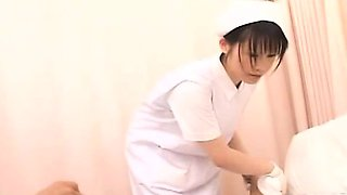 Subtitled CFNM Japanese nurse gives patient sponge bath
