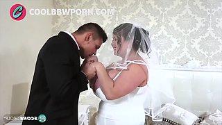 Busty bride loves big cock