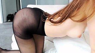 German amateur housewife Ivonne in nylon