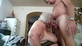 hubby fucks his big beautiful granny