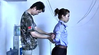 3 Chinese Girls Playing In Bondage