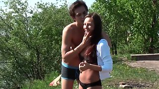 Amateur couple is being filmed while having some sexual fun