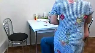 Sex with Russian, aged woman