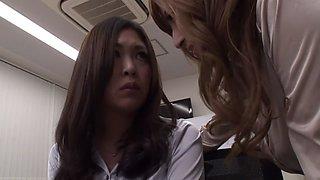 Yuria Sonoda, Neo Kazetani, Kai Miharu, Natsuki Yokoyama in Beauty OL Lesbian Office part 3