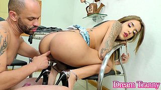 Smoking Hot Trans Slut Vitoria Neves Has Her Sweet Ass Pounded on a Chair