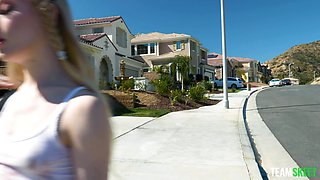 Sexually aggressive stepdaughter plans on fucking her stepdad