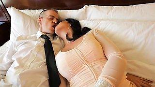 Horny Stud finally licks Escort TS Aubrey Kates butthole
