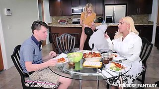 Omg! This Is Real Fuck! Young Boy Fucks His Step Mom And Step Sister