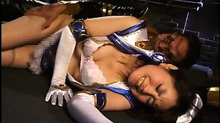 Cute Asian girl in uniform gets tied up and fucked rough