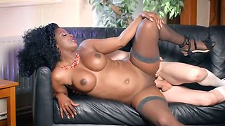 Curvy Black Milf Seduces A Young White Guy For Hot Sex