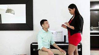 Hot Piano teacher teaches sex and fucked