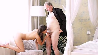 Spicy young russian brunette diva fucks well