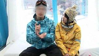 Horny Japanese whore Nozomi Wakui, Anna Momoi in Incredible Massage, Girlfriend JAV clip