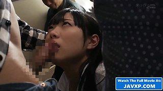 Beautiful Japanese Teen Schoolgirl On The Bus