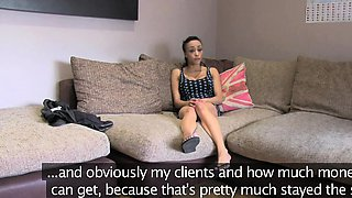 FakeAgentUK Big dick is too much for ebony babes tight arse
