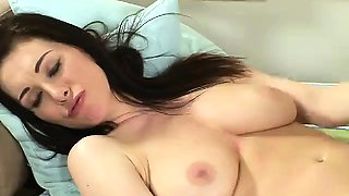 Big breasted brunette mature whore Rayveness getting oiled