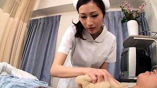 Asian Nurse in Uniform is A Blowjob Expert