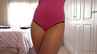 Showing panties