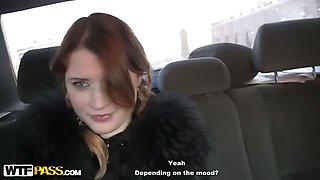 Teen amateur girls sex in the car