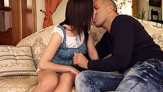 Horny teen virgin spreads her legs wide for a large knob