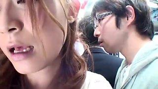Horny Japanese slut Haruki Sato in Exotic Public, Bus JAV clip