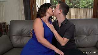 Chubby MILF Montse Swinger Leads on Young Boy To Ram Her