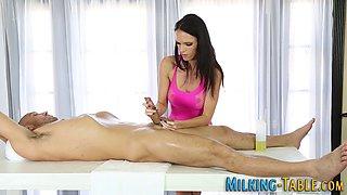 busty masseuse jizzed extreme