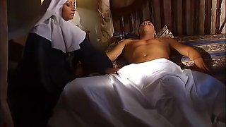 Rumika Powers - Nun Heals With Her Mouth, Ass And Pussy Upscaled To 4k