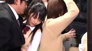 Japanese Girl School In Bus