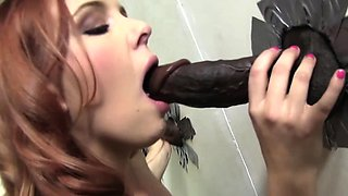 Miss Marie Cheats With Black Cock - Gloryhole