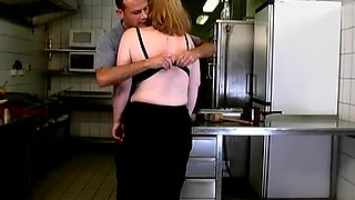 Filthy Mature Slut Gets Face Fucked And Pussy Pounded In The Kitchen