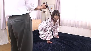 Amazing Japanese whore Aika Hoshino in Hottest JAV uncensored Blowjob clip