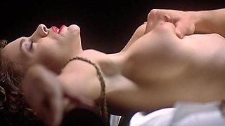 Alyssa Milano Slow Motion Boob Squeeze