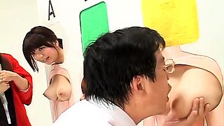 Beautiful Japanese babes getting used by horny old men